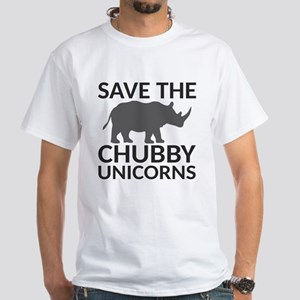 Save the Chubby Unicorns White T-Shirt