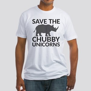 Save the Chubby Unicorns Fitted T-Shirt