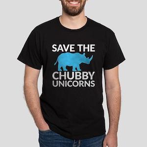 Save the Chubby Unicorns Dark T-Shirt