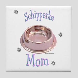 Schipperke Mom Tile Coaster