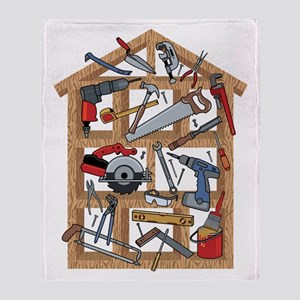 Home Construction Throw Blanket
