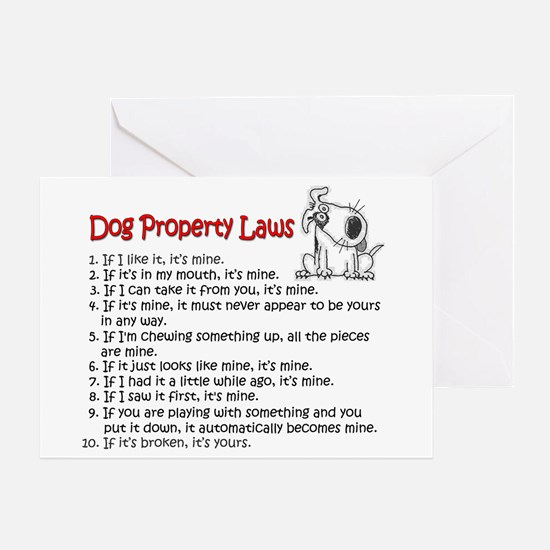 Dog Property Laws Greeting Cards