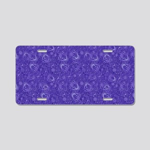 Blue Swirling Paisley Patte Aluminum License Plate