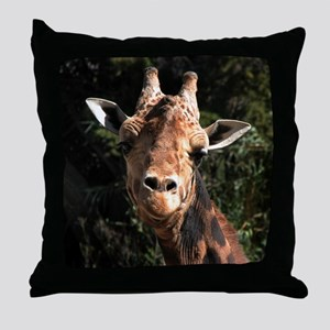 Helaine's Smiling Giraffe Throw Pillow