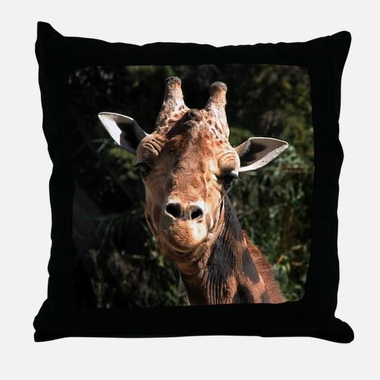Helaine's Smiling Giraffe Throw Pillow