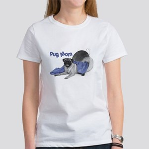Pug Mom Baby Doll T-Shirt