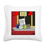 Scout Food for Santa Square Canvas Pillow