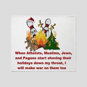 War On Christmas Statement Throw Blanket