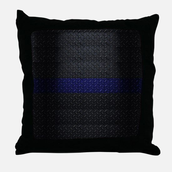 Police Thin Blue Line Throw Pillow
