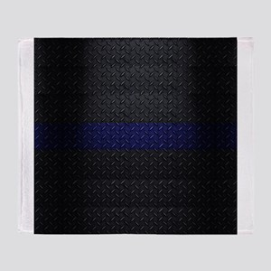 Police Thin Blue Line Throw Blanket