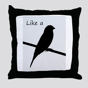 Like a Bird on a Wire Throw Pillow