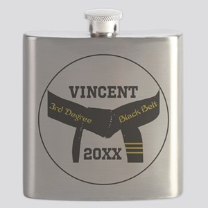 Martial Arts 3rd Degree Black Belt Flask