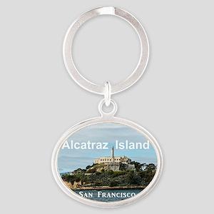 SanFrancisco_18.8x12.6_AlcatrazIslan Oval Keychain