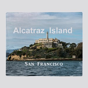 SanFrancisco_18.8x12.6_AlcatrazIslan Throw Blanket