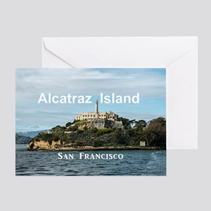 SanFrancisco_18.8x12.6_AlcatrazIslan Greeting Card