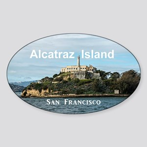 SanFrancisco_18.8x12.6_AlcatrazIsla Sticker (Oval)