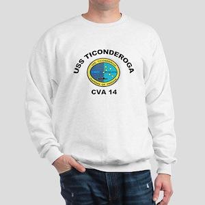 USS Ticonderoga CVA 14 Sweatshirt