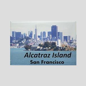 SanFrancisco_11x9_AlcatrazIsland Rectangle Magnet