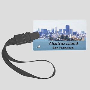 SanFrancisco_11x9_AlcatrazIsland Large Luggage Tag