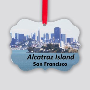 SanFrancisco_11x9_AlcatrazIsland Picture Ornament