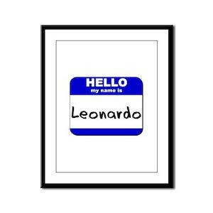 hello my name is leonardo  Framed Panel Print