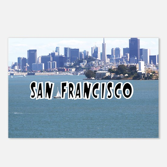 SanFrancisco_5x3_sticker_ Postcards (Package of 8)
