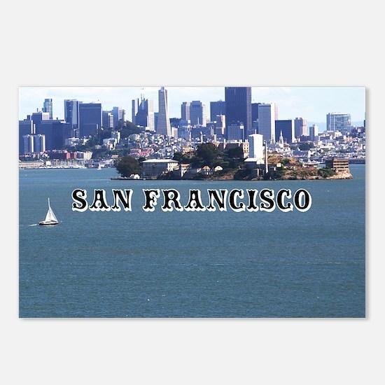 SanFrancisco_6x6_v2_Alcat Postcards (Package of 8)