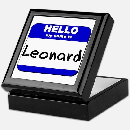 hello my name is leonard Keepsake Box