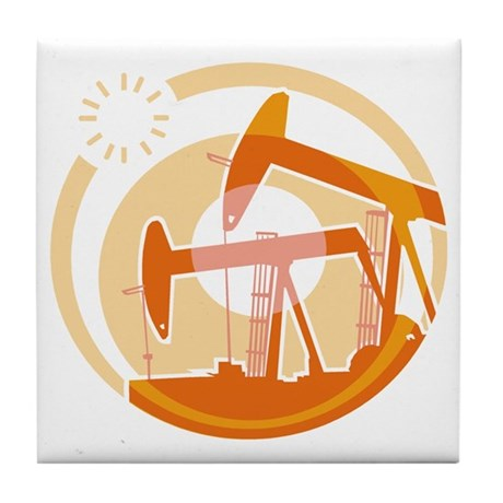 Oil Derrick Tile Coaster