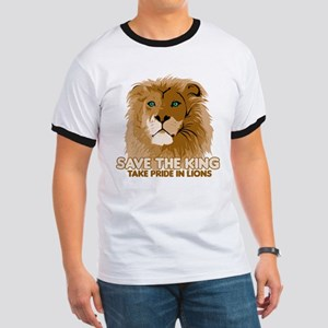 Lion Save the King Ringer T