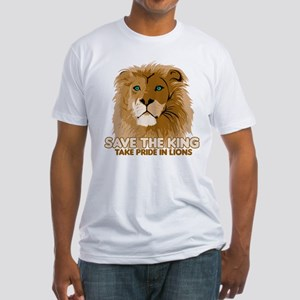 Lion Save the King Fitted T-Shirt
