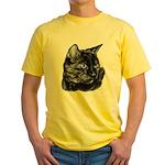 Tortoise Short-Hair Cat Yellow T-Shirt
