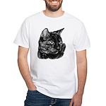 Tortoise Short-Hair Cat White T-Shirt