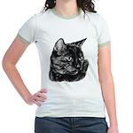 Tortoise Short-Hair Cat Jr. Ringer T-Shirt
