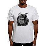 Tortoise Short-Hair Cat Light T-Shirt