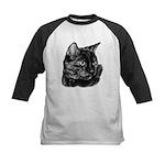 Tortoise Short-Hair Cat Kids Baseball Jersey
