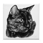Tortoise Short-Hair Cat Tile Coaster