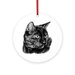 Tortoise Short-Hair Cat Ornament (Round)