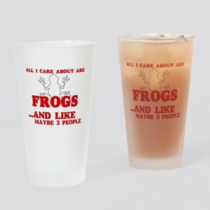 All I care about are Frogs Drinking Glass
