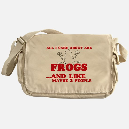 All I care about are Frogs Messenger Bag