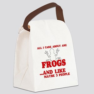 All I care about are Frogs Canvas Lunch Bag