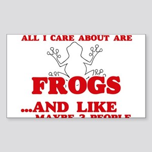 All I care about are Frogs Sticker