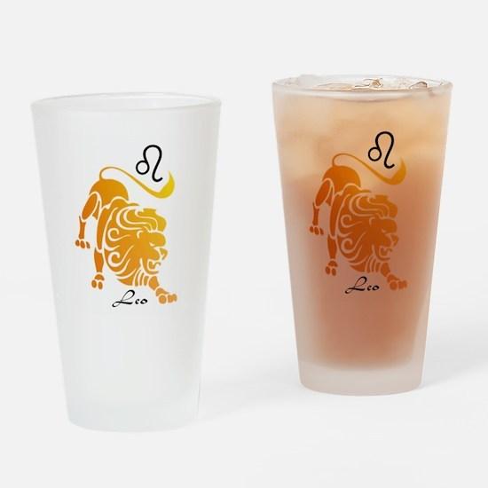 Leo Drinking Glass