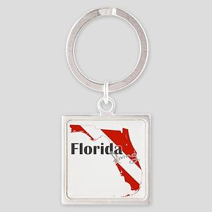 Florida Diver Square Keychain