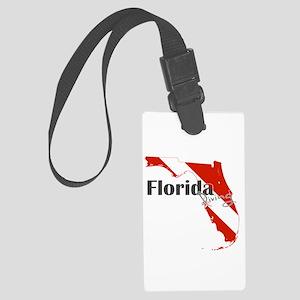 Florida Diver Large Luggage Tag