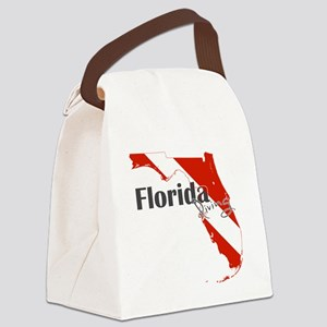 Florida Diver Canvas Lunch Bag