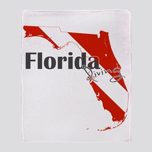 Florida Diver Throw Blanket
