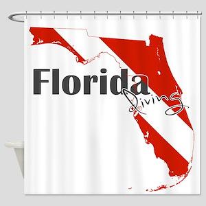 Florida Diver Shower Curtain