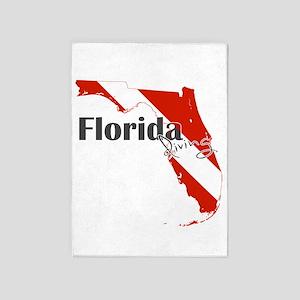 Florida Diver 5'x7'Area Rug