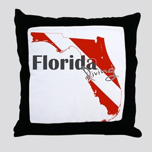 Florida Diver Throw Pillow